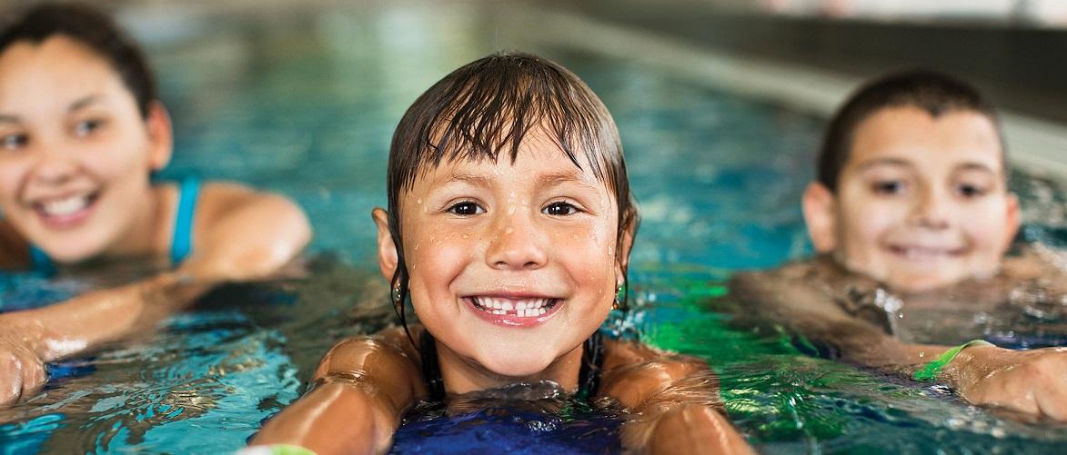 Swimming header